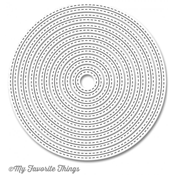 My Favorite Things INSIDE AND OUT STITCHED CIRCLE Stax Die-Namics MFT849