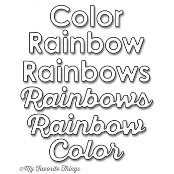 My Favorite Things COLOR THE RAINBOW Die-Namics MFT857
