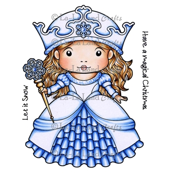 La-La Land Crafts Cling Stamp WINTER PRINCESS MARCI Set 5270