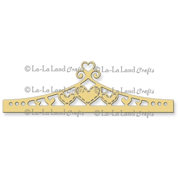 La-La Land Crafts HEART HEADER BORDER Die Set 8160