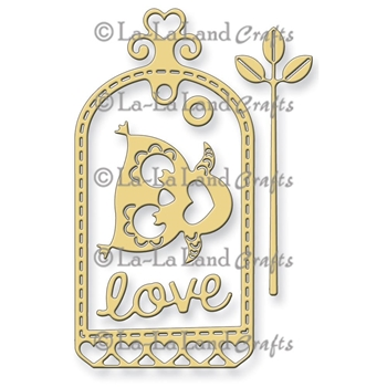 La-La Land Crafts LOVE OWL TAG Die Set 8161