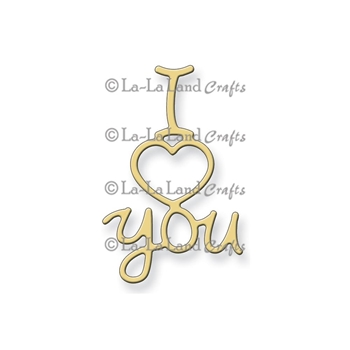 La-La Land Crafts I HEART YOU Die Set 8163