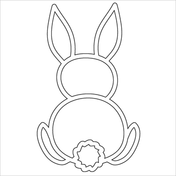 The Crafter's Workshop BUNNY FRAGMENT Template TCW2112