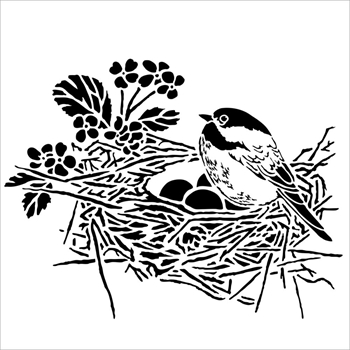 The Crafter's Workshop MINI BIRD NEST 6x6 Template TCW608S