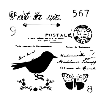 The Crafter's Workshop MINI CHICKADEE POST 6x6 Template TCW630S