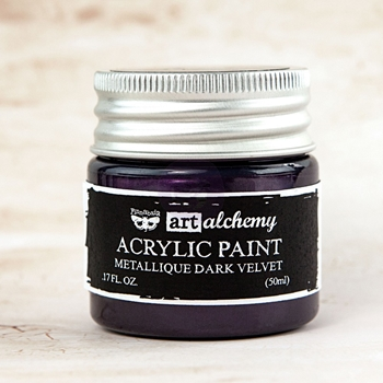 Prima Marketing METALLIQUE DARK VELVET Art Alchemy Acrylic Paint 963125