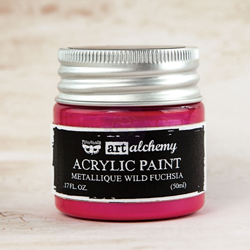 Prima Marketing METALLIQUE WILD FUCHSIA Art Alchemy Acrylic Paint 963132 Preview Image