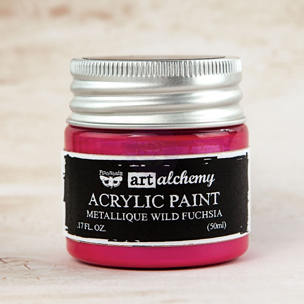 Prima Marketing METALLIQUE WILD FUCHSIA Art Alchemy Acrylic Paint 963132 zoom image