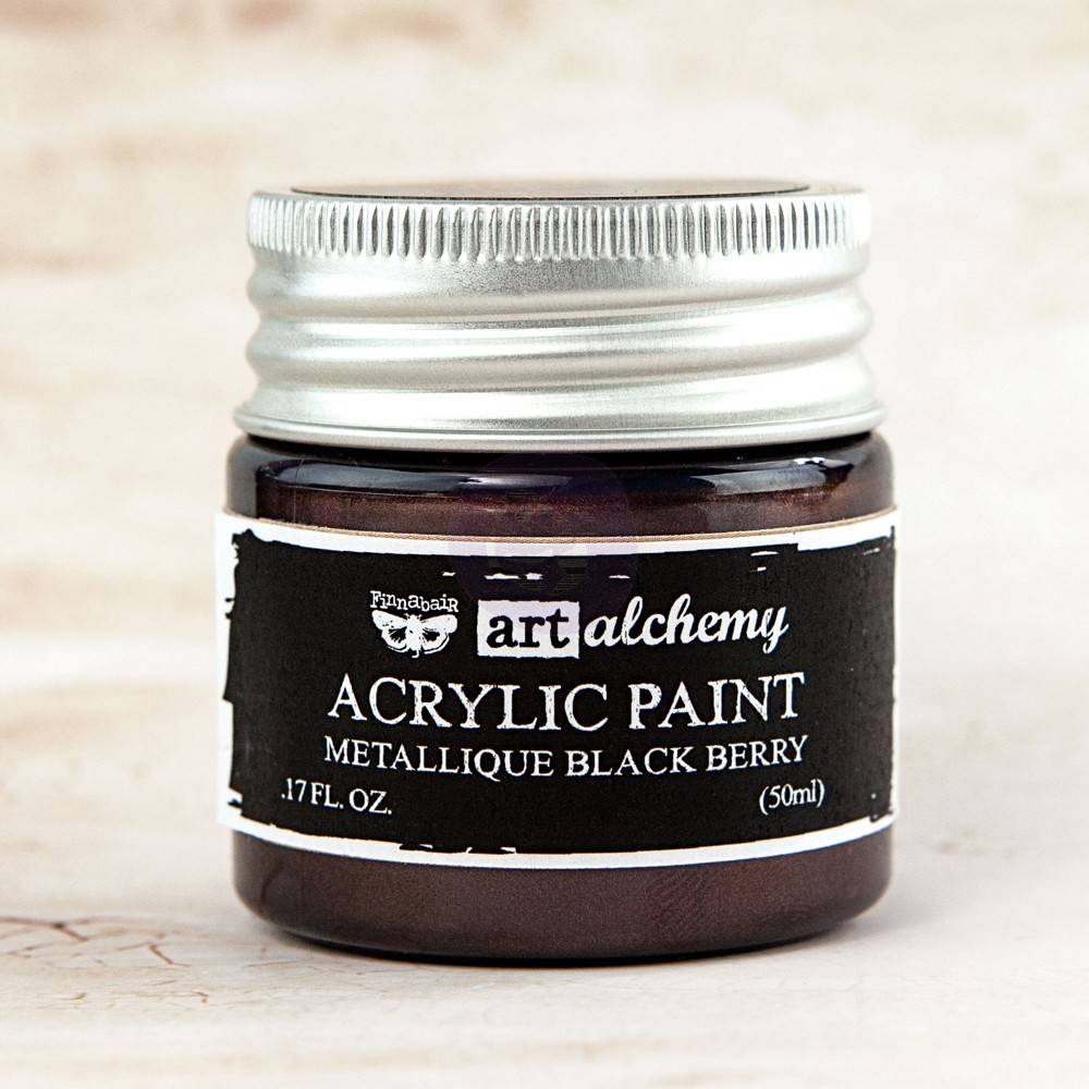 Prima Marketing METALLIQUE BLACK BERRY Art Alchemy Acrylic Paint 963149 zoom image