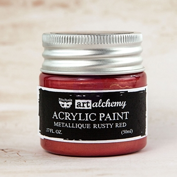 Prima Marketing METALLIQUE RUSTY RED Art Alchemy Acrylic Paint 963156