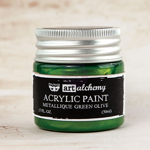 Prima Marketing METALLIQUE GREEN OLIVE Art Alchemy Acrylic Paint 963163 Preview Image