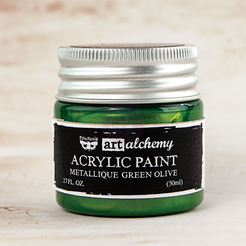 Prima Marketing METALLIQUE GREEN OLIVE Art Alchemy Acrylic Paint 963163 zoom image