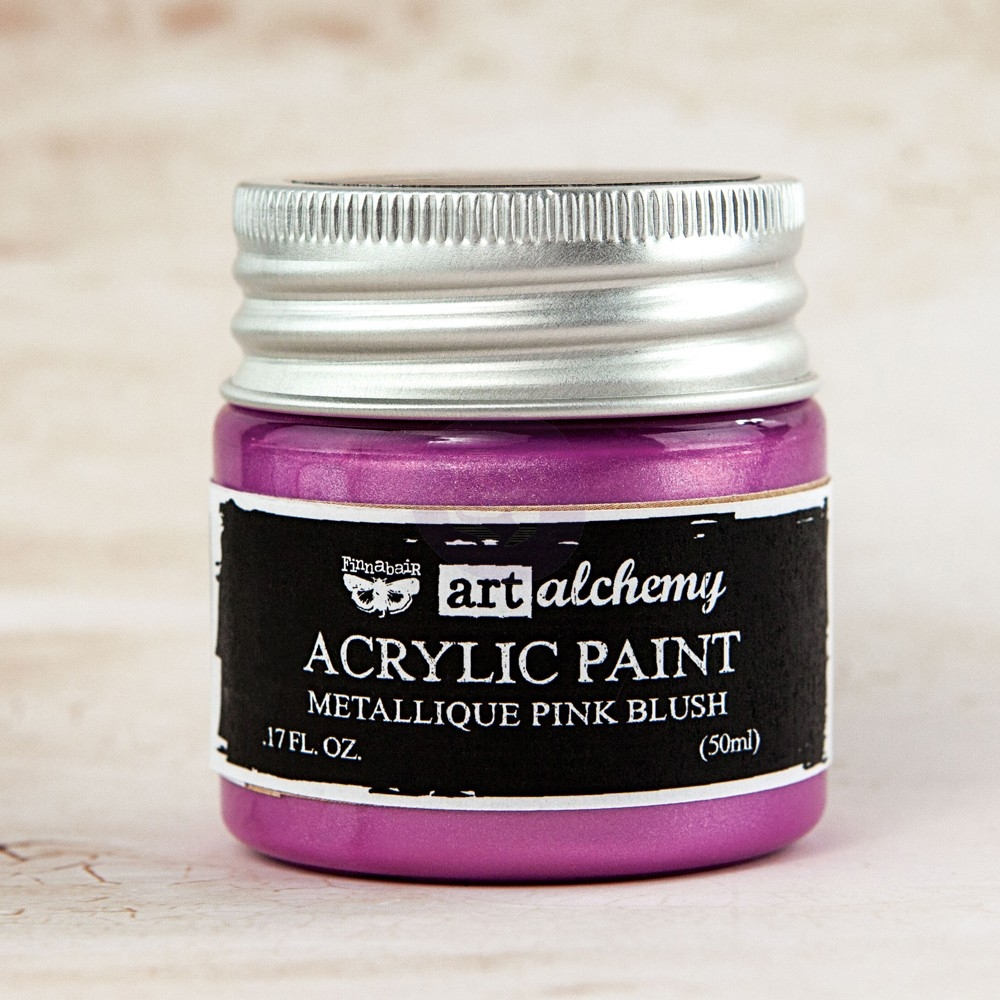 Prima Marketing METALLIQUE LIGHT PINK BLUSH Art Alchemy Acrylic Paint 963217 zoom image