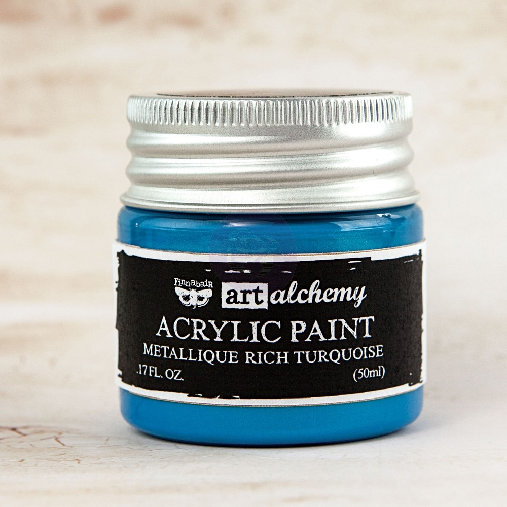 Prima Marketing METALLIQUE RICH TURQUOISE Art Alchemy Acrylic Paint 963231 zoom image