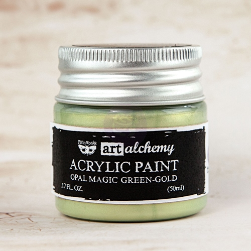 Prima Marketing OPAL MAGIC GREEN GOLD Art Alchemy Acrylic Paint 963651 Preview Image