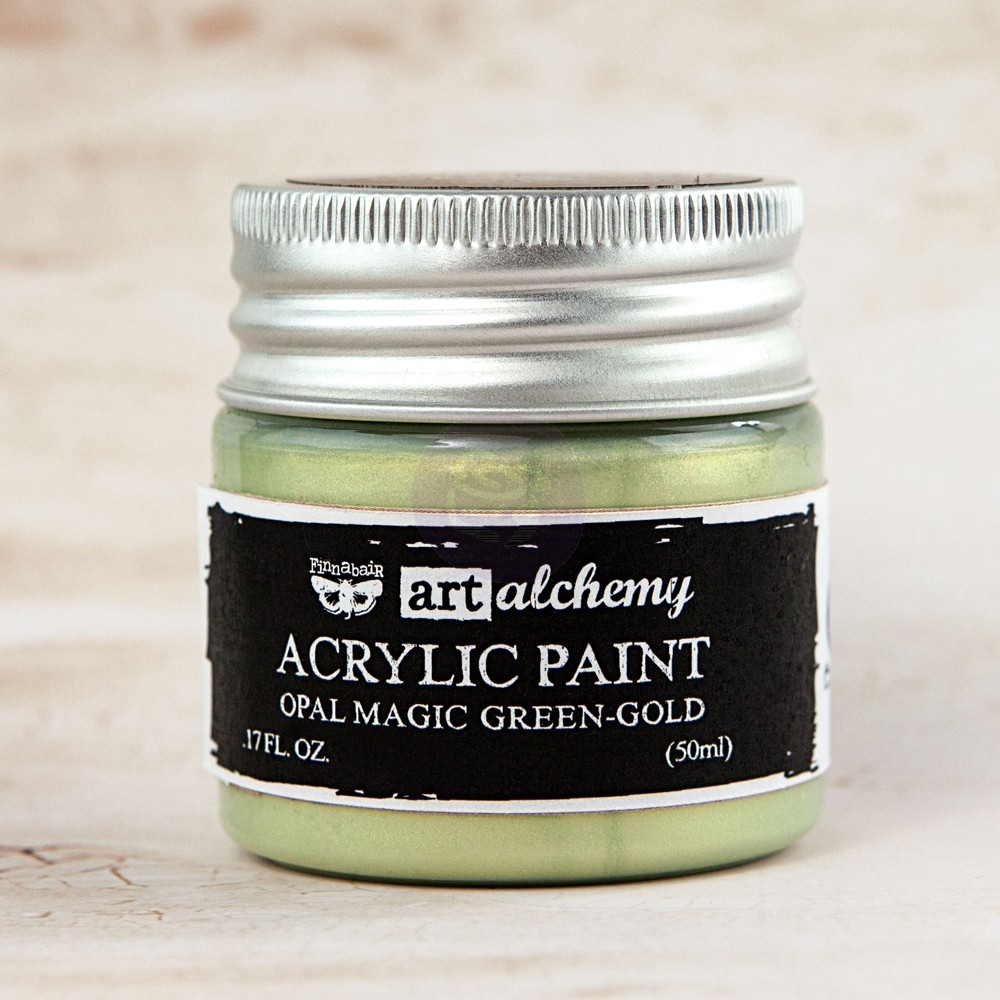 Prima Marketing OPAL MAGIC GREEN GOLD Art Alchemy Acrylic Paint 963651 zoom image
