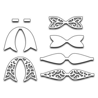 Penny Black BOW SET Thin Metal Creative Dies 51-212 Preview Image