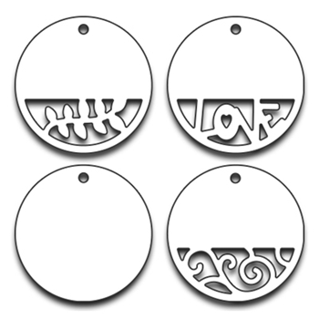 Penny Black CIRCLE TAGS Thin Metal Creative Dies 51-204