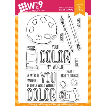 Wplus9 COLOR MY WORLD Clear Stamps CLWP9CMW
