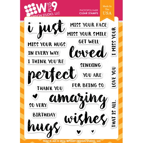 Wplus9 THAT IS ALL Clear Stamps CLWP9TIA Preview Image