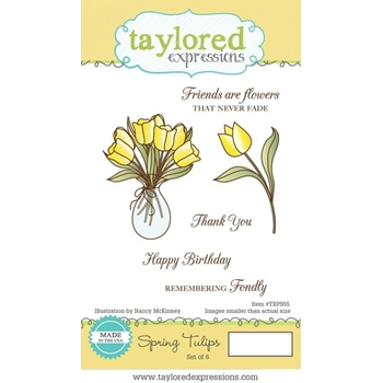 Taylored Expressions SPRING TULIPS Cling Stamp Set TEPS55