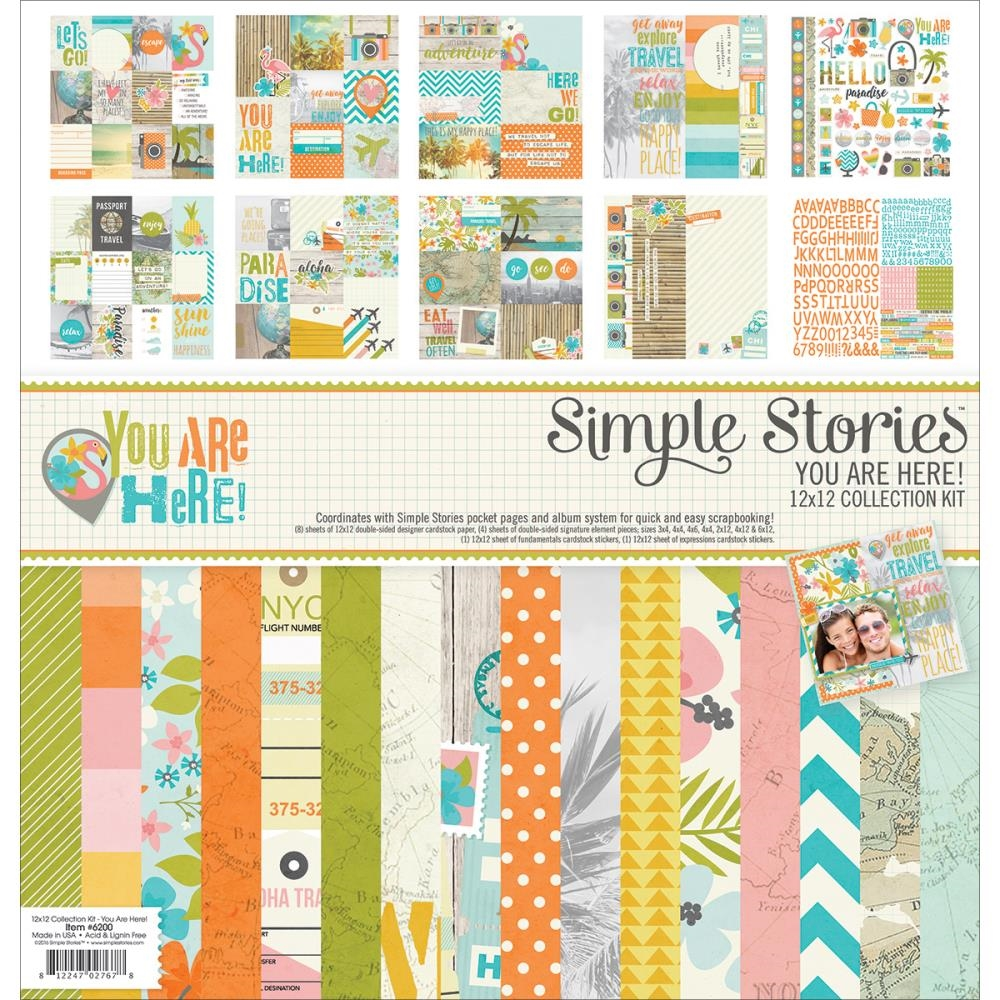 Simple Stories YOU ARE HERE 12 x 12 Collection Kit 6200* zoom image
