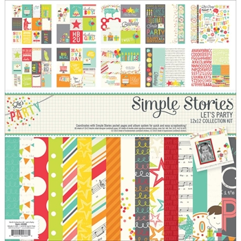 Simple Stories LET'S PARTY 12 x 12 Collection Kit 5300
