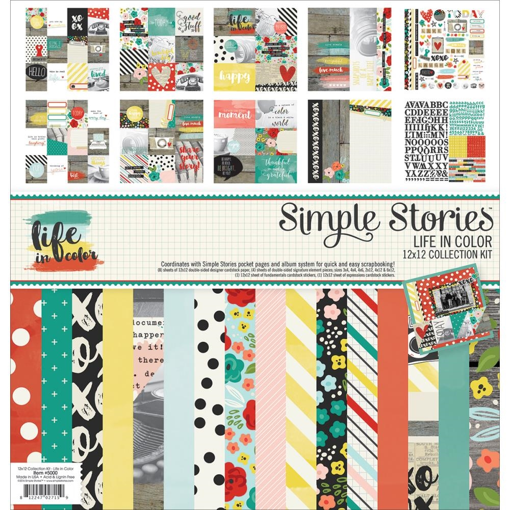 Simple Stories LIFE IN COLOR 12 x 12 Collection Kit 5000* zoom image