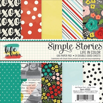 Simple Stories LIFE IN COLOR 6 x 6 Paper Pack 5022