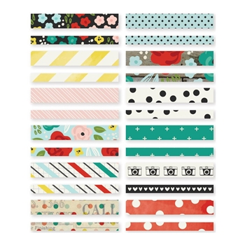 Simple Stories LIFE IN COLOR Washi Paper Tape Sheets 5035