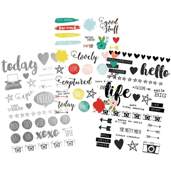 Simple Stories LIFE IN COLOR Clear Stickers 5033