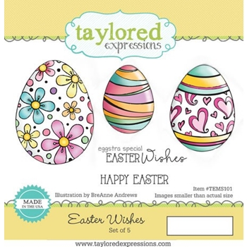 Taylored Expressions EASTER WISHES Cling Stamp Set TEMS101