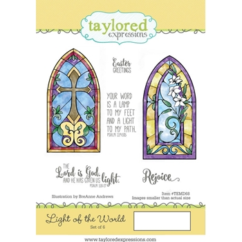 Taylored Expressions LIGHT OF THE WORLD Cling Stamp Set TEMD68