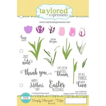 Taylored Expressions SIMPLY STAMPED TULIPS Cling Stamp Set TEFS195