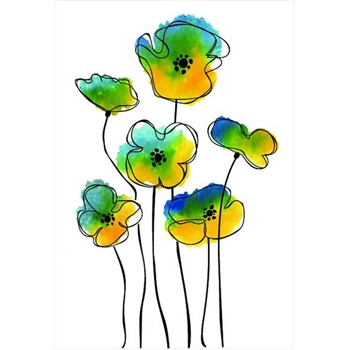 Rubbernecker SKETCH POPPY GROUP Layering Cling Stamps 909
