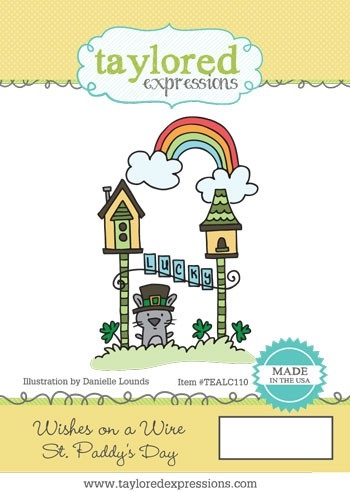 Taylored Expressions WISHES ON A WIRE ST. PATTY'S DAY Cling Stamp TEALC110 Preview Image