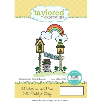 Taylored Expressions WISHES ON A WIRE ST. PATTY'S DAY Cling Stamp TEALC110