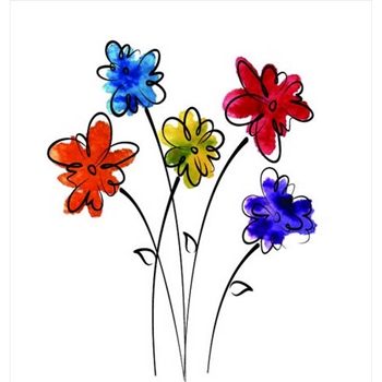 Rubbernecker DAISIES Layering Cling Stamps 906