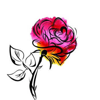 Rubbernecker THORNY ROSE Layering Cling Stamps 920