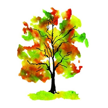 Rubbernecker FALL FOLIAGE Layering Cling Stamps 924