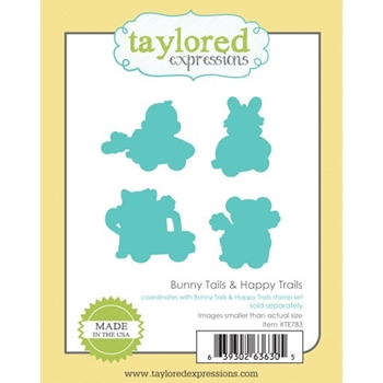 Taylored Expressions BUNNY TAILS AND HAPPY TRAILS Die Set TE783