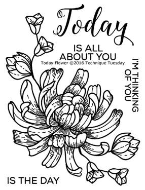 Technique Tuesday TODAY FLOWER Clear Stamps 02285 zoom image
