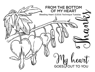 Technique Tuesday BLEEDING HEART Clear Stamps 02312 zoom image