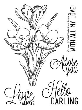 Technique Tuesday GREENHOUSE CROCUS Clear Stamps 02296 zoom image