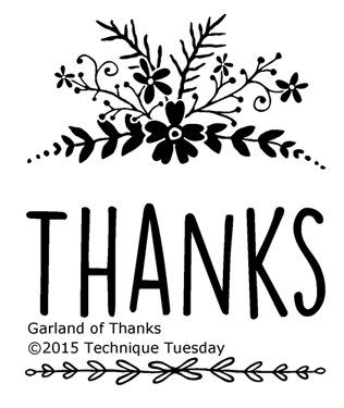Technique Tuesday GARLAND OF THANKS Clear Stamps 02275 zoom image