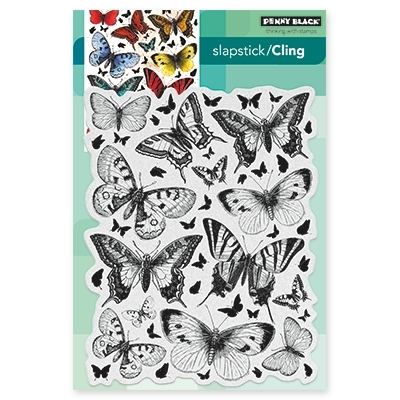 Penny Black BUTTERFLY CHARMER Cling Stamp Set 40-442 zoom image