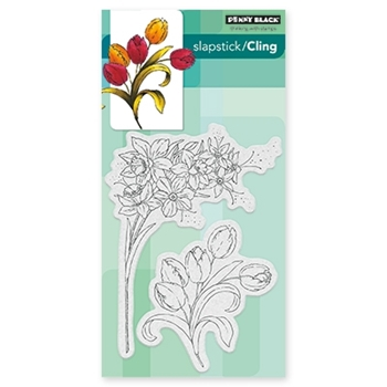 Penny Black FLOWER GALA Cling Stamp Set 40-437