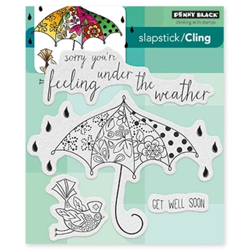 Penny Black FEEL WELL Cling Stamp Set 40-433