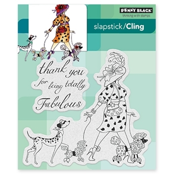 Penny Black TOTALLY FABULOUS Cling Stamp Set 40-432