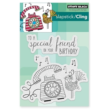 Penny Black BIRTHDAY TWEETINGS Cling Stamp Set 40-431